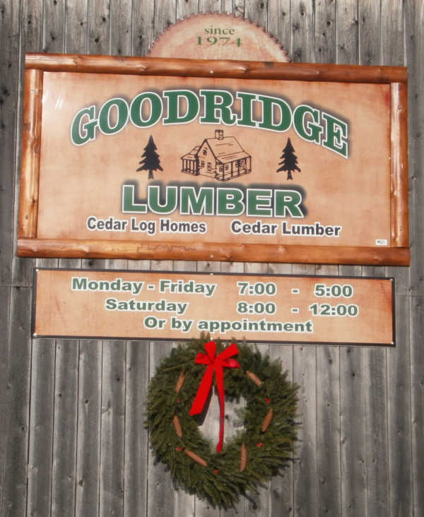 Goodridge Lumber Sign