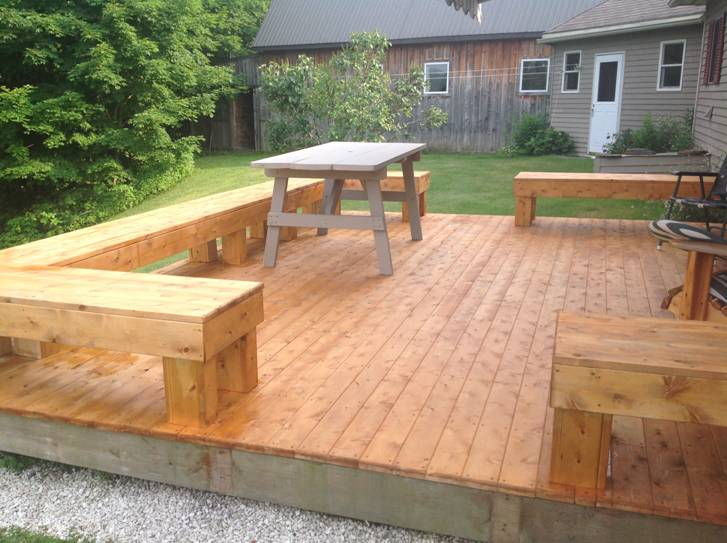 Decking in place.