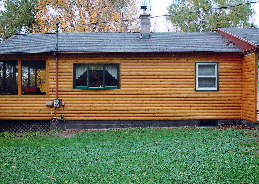 Goodridge lumber log siding E log siding